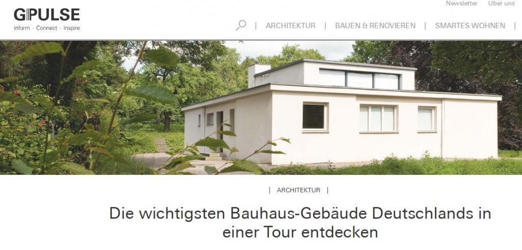 Bauhaus Artikel auf G-Pulse