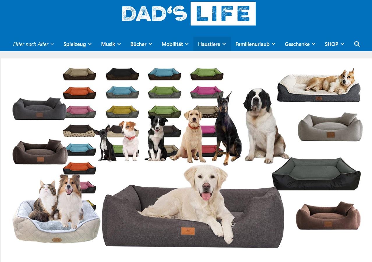 referenz dad's life Hundekörbe